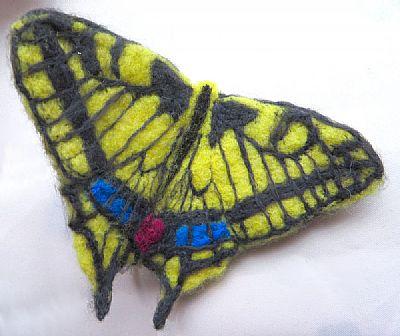kneedle felted butterfly crafty ewe workshop