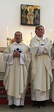 Fr Alessandro and Fr Chris