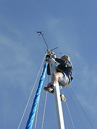 Trouble at the top of the mast