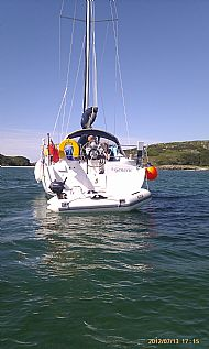 Sister ship 'Genesis' at anchor