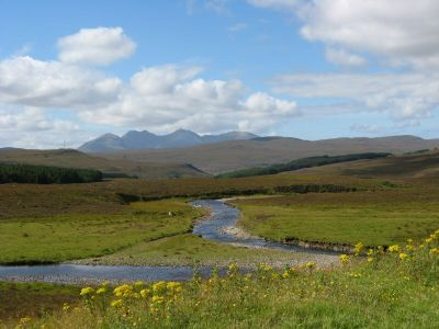 wester ross peaks from road to ullapool.