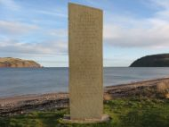 emigration stone on cromarty links.