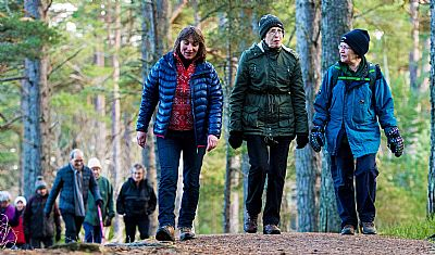 walking in cairngorms woods