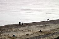 Fishing on Skipsea Beach