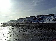 Skipsea Cliffs in Winter
