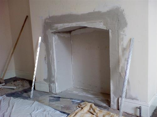 2-half way and plaster boarded