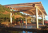 Black Isle yurts barn frame