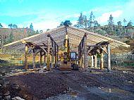Asssynt Foundation Log Barn Frame