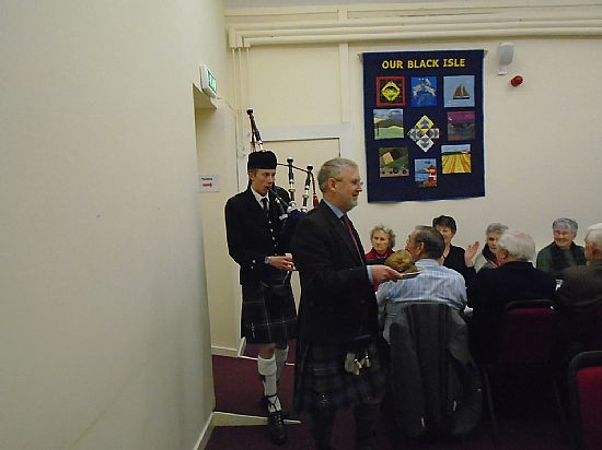 Culbokie church centre calendar for Burns supper order of service