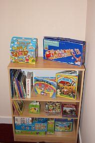 Creche room - bookshelf