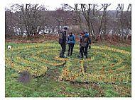 Walking the Taynish Labyrinth