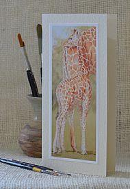 Close to Mum - Giraffe and calf