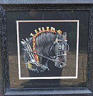 Firey Steed - black percheron horse