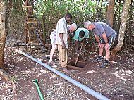 Digging drains
