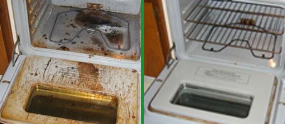 before and after oven cleaning in norfolk