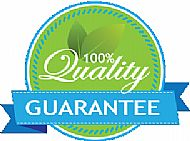 100% guarantee on upholstery cleaning