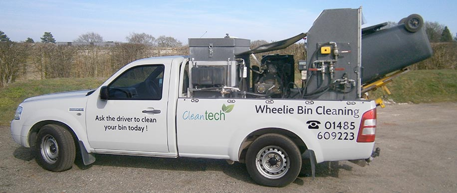 specialised wheelie bin cleaning vehicle in norfolk
