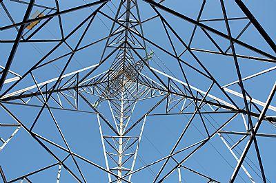 inside an electricity pylon