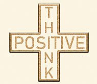 The Positive Mathematical sign says Think Positive