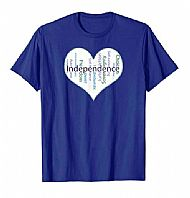 Independence Heart t-shirt
