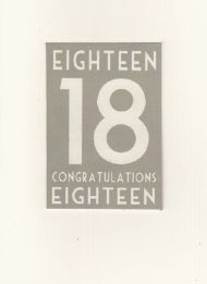 EAST OF INDIA 18TH BIRTHDAY CARD
