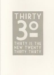 EAST OF INDIA 30TH BIRTHDAY CARD