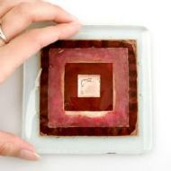 JO DOWNS SQUARE DESIGNER COASTER