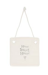 CERAMIC SQUARE DECORATION - HOME SWEET HOME
