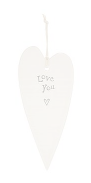 CERAMIC HEART DECORATIVE HANGER - LOVE YOU
