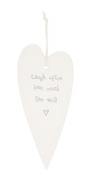 CERAMIC HEART DECORATION - LIVE WELL