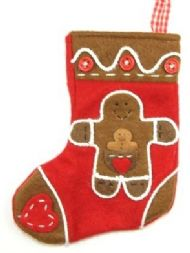 GINGERBREAD MAN LITTLE STOCKING