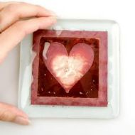 JO DOWNS HEART DESIGNER COASTER
