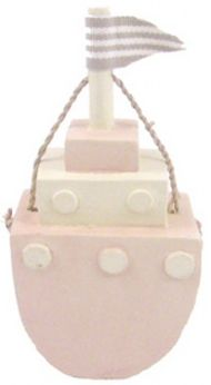 EAST OF INDIA LITTLE WOODEN TUG BOAT - PINK