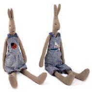 MAILEG MEDIUM DENIM RABBITS