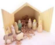 WOODEN NATIVITY SET BY EAST OF INDIA