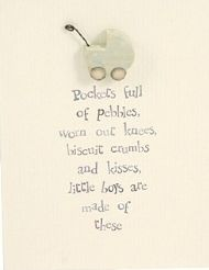 'POCKETS OF PEBBLES' BABY BOY CARD