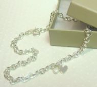 ROSIE BROWN CHUNKY SILVER LINK NECKLACE