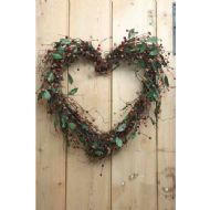RED BERRY HEART WREATH