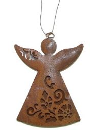 RUSTY METAL ANGEL DECORATION
