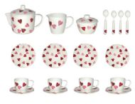 EMMA BRIDGEWATER HEARTS MELAMINE TEA SET