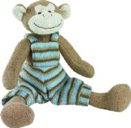 LARGE KNITTED MONKEY