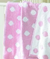 SOFTKNIT POLKA DOT BLANKET - PINK