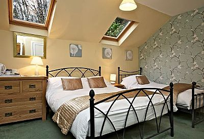 bedroom at harbour guesthouse, tobermory, isle of mull, scotland