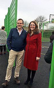 MP Phil Wilson and Cllr Rachel Lumsdon