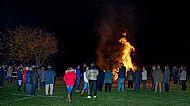 WW1 commemoration bonfire 2018