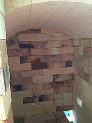 Inside the large kiln - no shelves