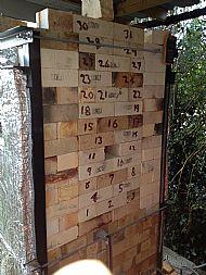 Large kiln - door bricked up