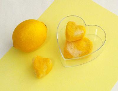 lemon felted soap gift set by roses felt workshop