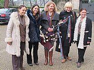 Princesses Natalia and Irina Strozzi, Dena, Chiara, (mother) Princess Irina Strozzi