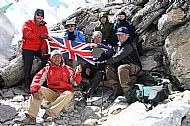 At the top of Kala Patthar